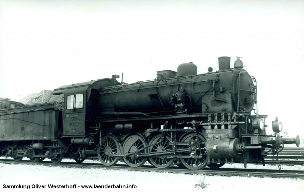 """Die Lokomotive Nr. 232 """"WANGERLAND"""" von 1912, hier mit der Reichsbahnnummer 55 6202."""