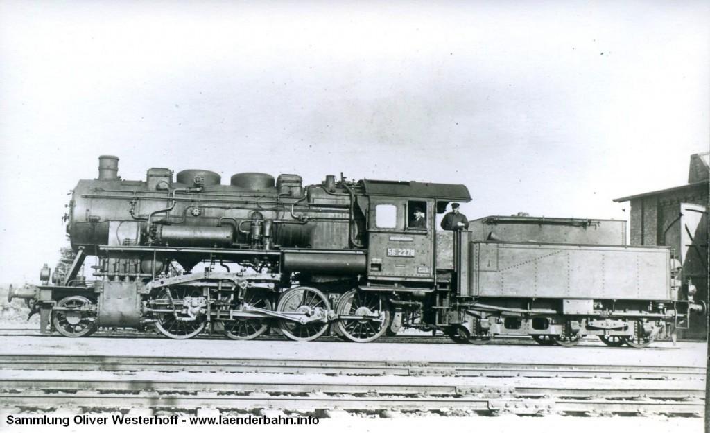 G 8.2 Nr. 283, hier bereits mit der Reichsbahnhummer 56 2278