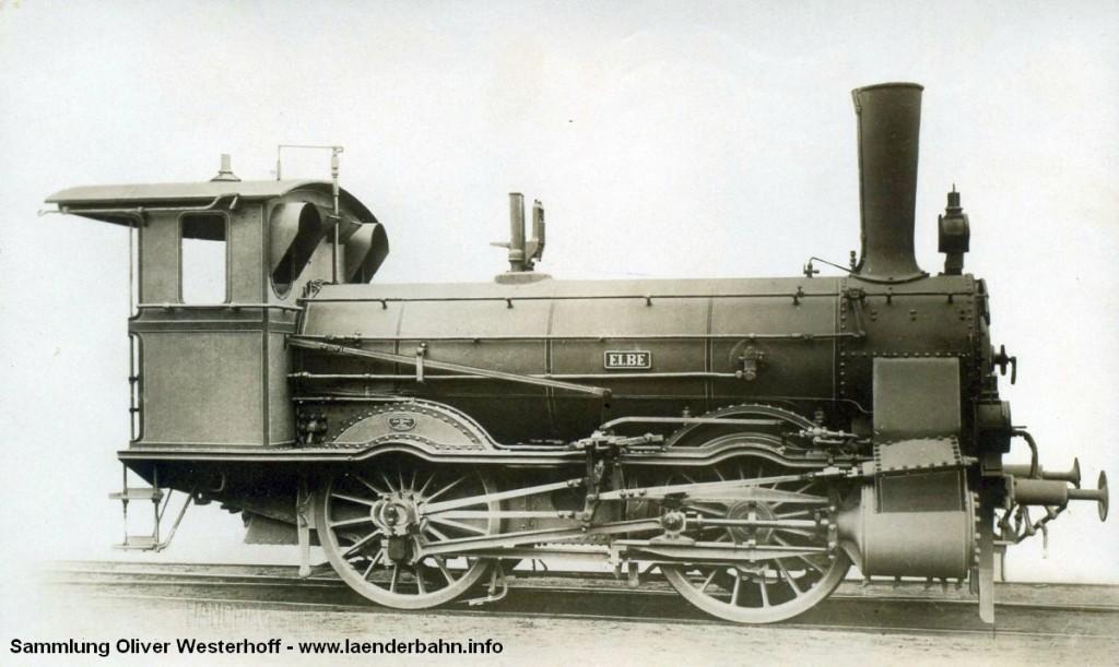 """Die Lokomotive Nr. 96 """"ELBE"""", gebaut 1894 bei HANOMAG unter der Fabriknummer 2626"""