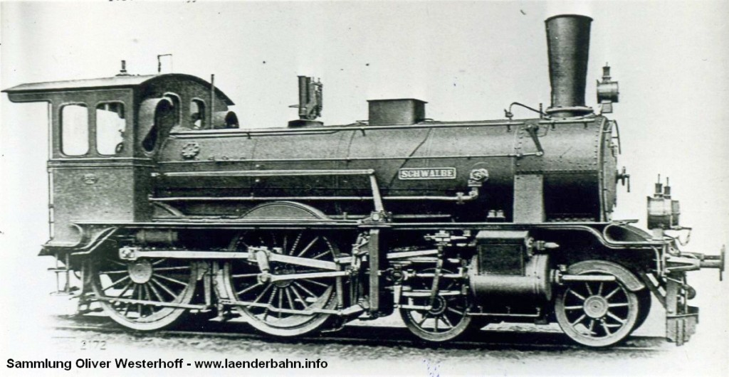 """Die Lokomotive Nr. 11 """"SCHWALBE"""", gebaut 1896 bei HANOMAG unter der Fabriknummer 2794"""