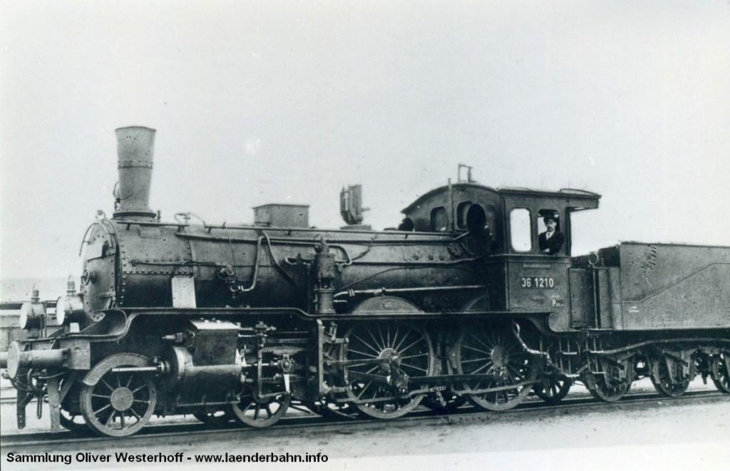 """P 4.1 Nr. 132 """"CONDOR"""" als Reichsbahnlok mit der Nummer 36 1210."""