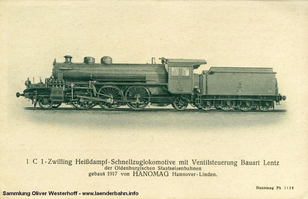 """S 10 Nr. 266 """"BERLIN"""" auf einer Ansichtskarte der Hanomag."""
