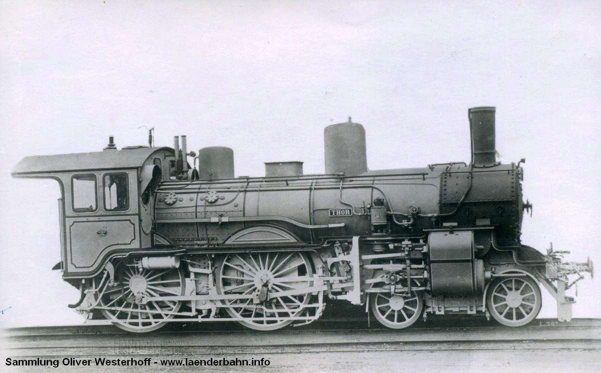 """Die Lokomotive Nr. 154 """"THOR"""", gebaut 1903 bei HANOMAG unter der Fabriknummer 4104"""