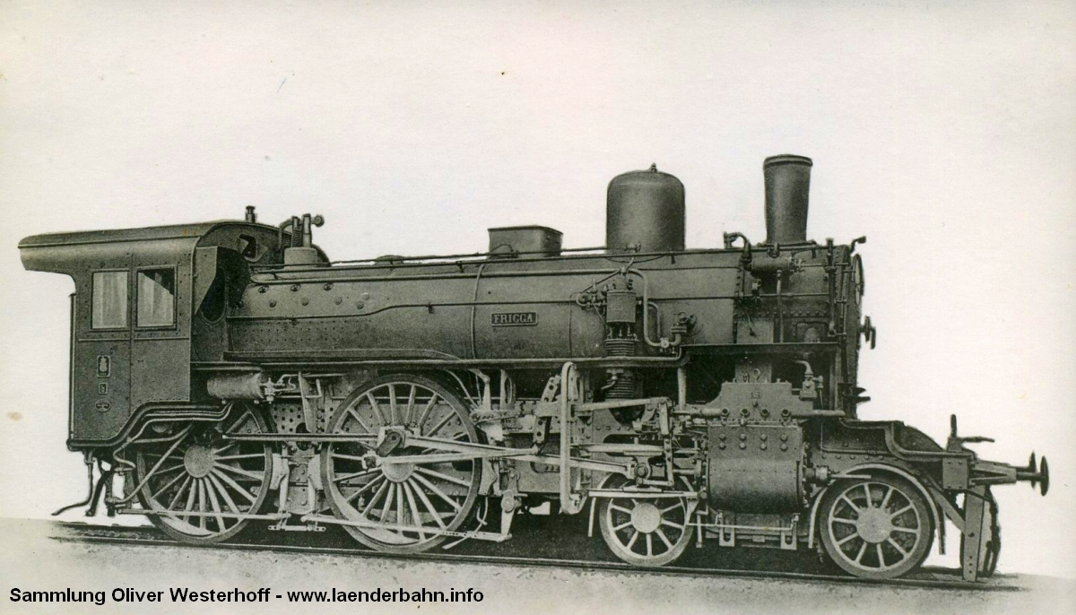 "1909: Schnellzuglokomotive, S 5.2 (2 B-SLv-(LV)) Nr. 205 ""FRIGGA"" die spätere 13 1851"