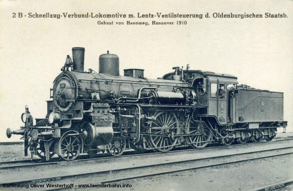 """S 5.2 Nr. 210 """"GERDA"""" auf einer Ansichtskarte der Hanomag"""
