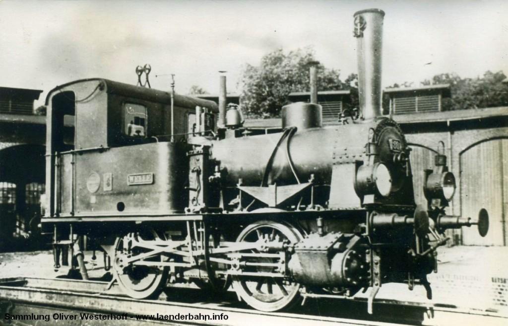 """T 1.2 Nr. 80 """"WELLE"""" im Betriebswerk Oldenburg"""