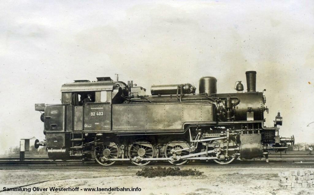 T 13.1 Nr. 288 mit der Reichsbahnnummer 92 403