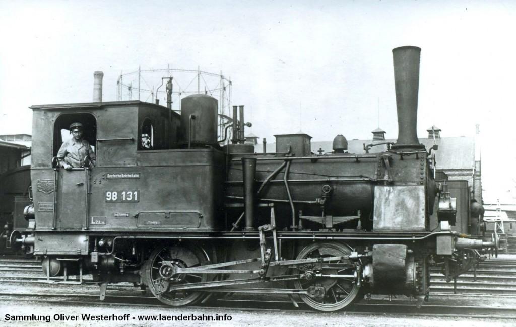 """T 2 Nr. 168 """"ILTIS"""" zur Reichsbahnzeit als 98 131."""