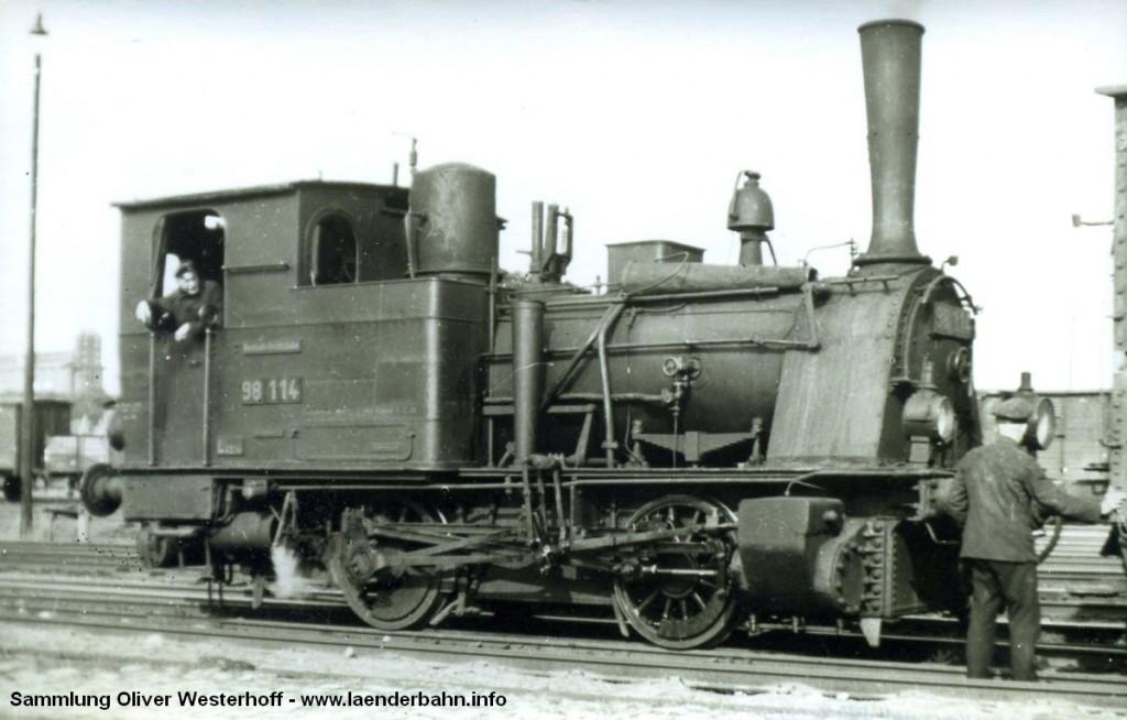 """T 2 Nr. 200 """"GEMSE"""", bei der Reichsbahn mit der Nummer 98 114."""