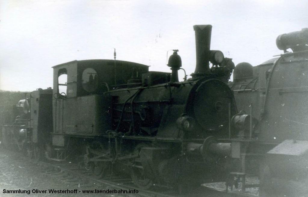 """T 2 Nr. 243 """"HYÄNE"""" in später Zeit als Werkslokomotive."""