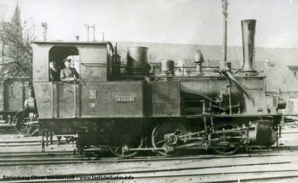 """T 3 Nr. 124 """"STAAR"""" erhielt bei der Reichsbahn die Nummer 98 202."""