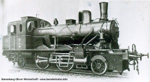"""T 5.1 Nr. 218 """"CLOPPENBURG"""" gebaut 1911 bei Hanomag."""