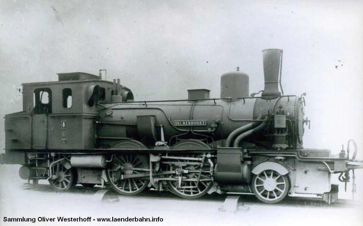"""Die Lokomotive Nr. 187 """"DELMENHORST"""", gebaut 1907 bei HANOMAG unter der Fabriknummer 5003"""