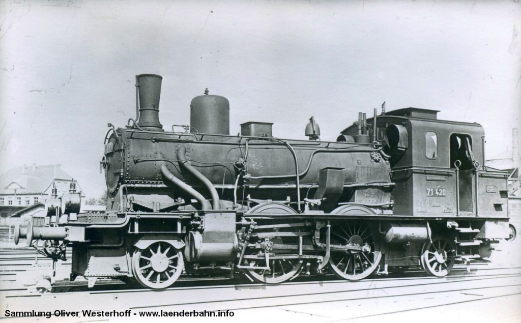 """T 5.1 Nr. 280 """"NADORST"""" erhielt bei der Reichsbahn die Nummer 71 420."""