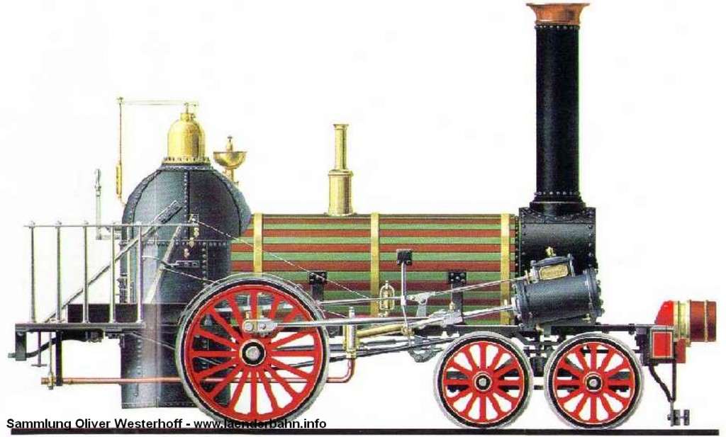 Eine Norris-Lokomotive aus den späten 1830er Jahren