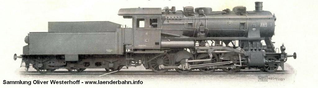 Die Lokomotive Nr. 281, gebaut 1921 bei HANOMAG unter der Fabriknummer 9751