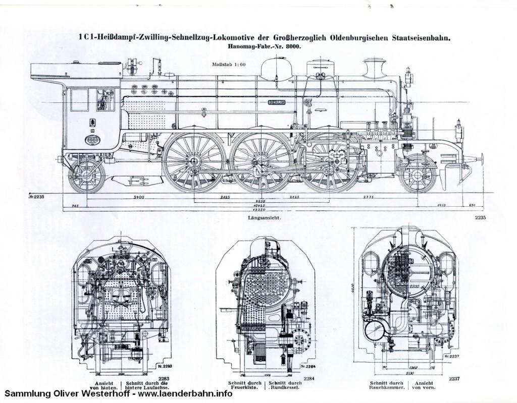 """Schnittzeichnungen der S 10 Nr. 266 """"BERLIN"""""""
