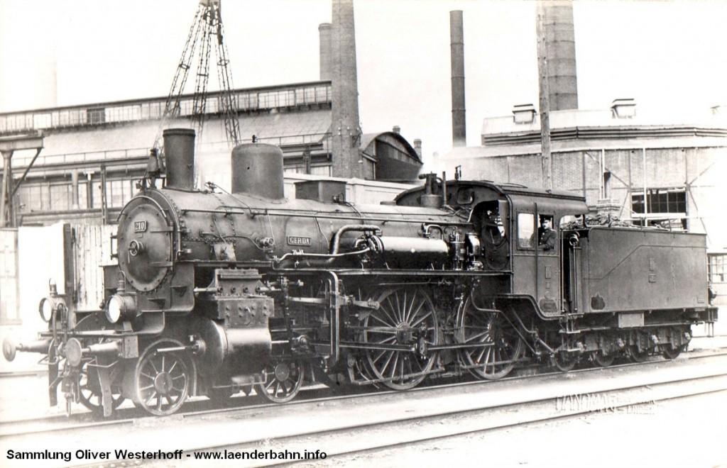 """Die oldenburgische S 5.2 Nr. 210 """"GERDA"""" erhielt später bei der Reichsbahn die Nummer 13 1854."""