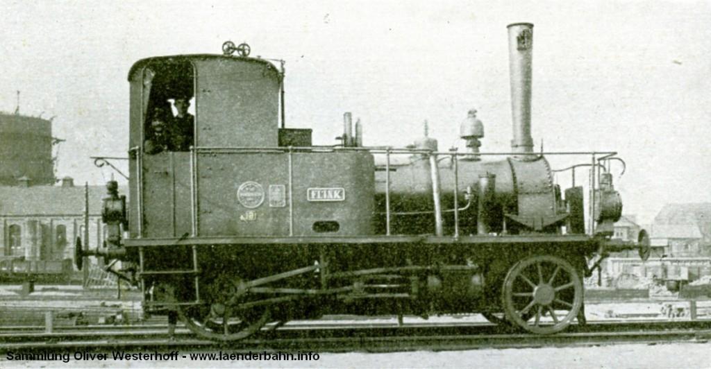 """Die Nr. 63 """"FLINK"""" im westelichen Bahnhofsareal von Oldenburg."""