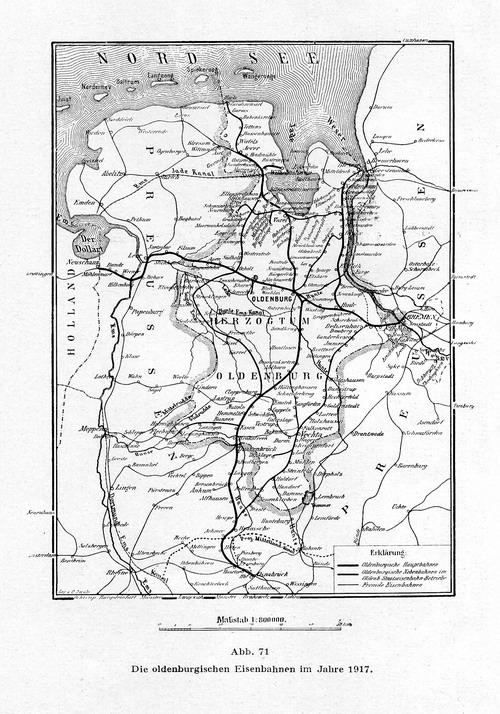 Übersichtskarte über die Bahnstrecken der G.O.E.