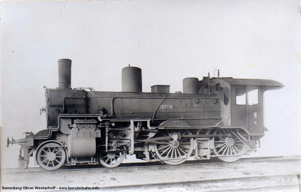 """Die Heizerseite der P 4.2 Nr. 190 """"NEPTUN"""", gebaut 1909"""