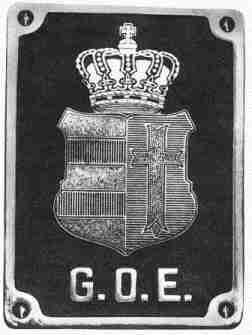 Das Wappen der G.O.E., wie es an den Fahrzeugen angebracht war.