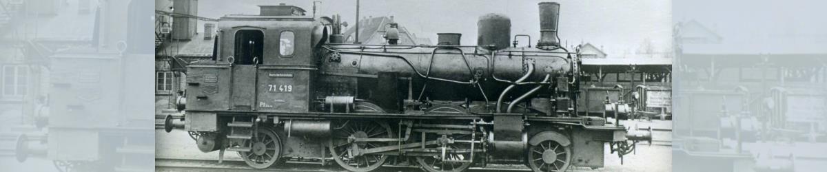 """Oldenburgische T 5.1: Bereits mit der Reichsbahnnummer 71 419 die Nr. 279 """"DONNERSCHWEE"""""""