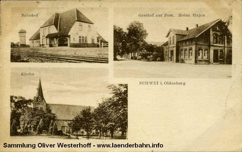 Bahnhof Schwei in der Wesermarsch.