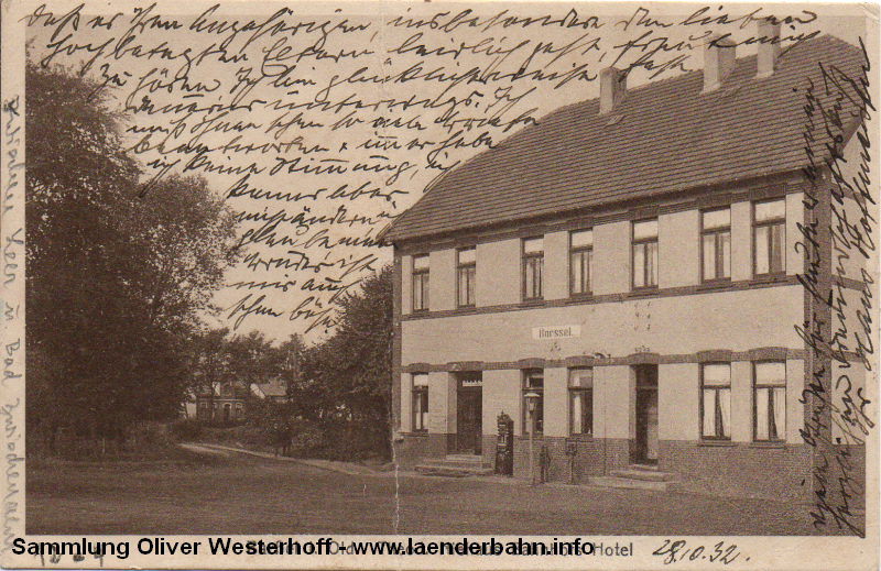 Der Bahnhof Sarssel, in dem auch das Bahnhofshotel untergebracht war.