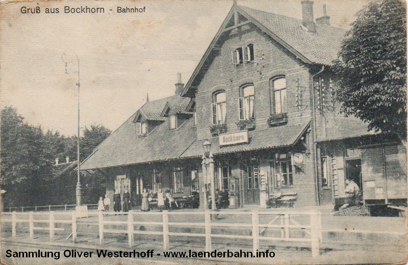 Bockhorn war Knotenpunkt mehrerer Strecken der Vareler Nebenbahnen.