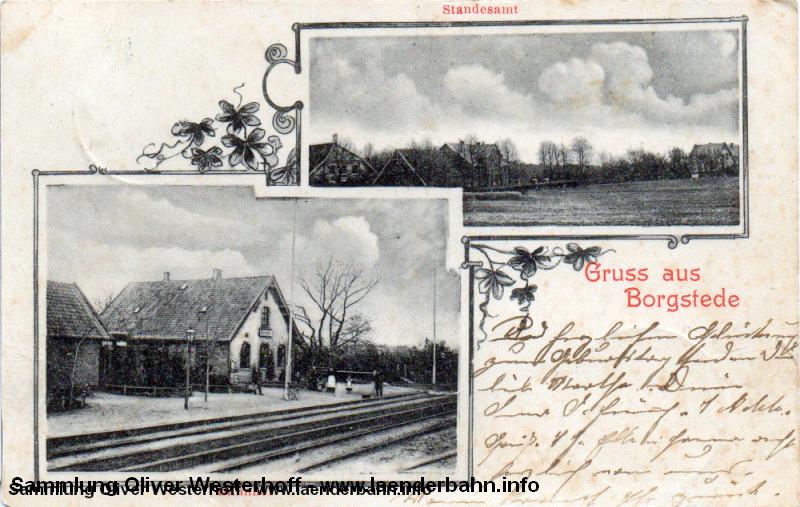 von dem kleinen Ort Borgstede führte eine Stichstrecke nach Bramloge.