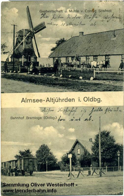 In Bramloge endete die kurze Strecke von Borgstede kommend.