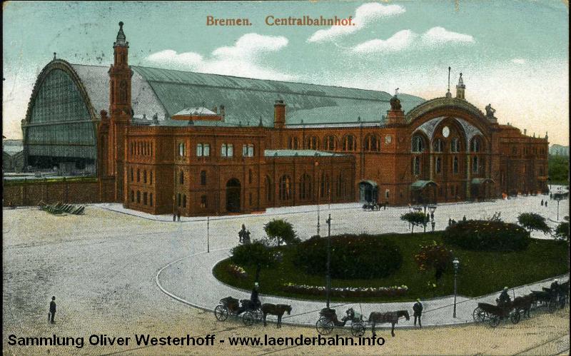 Der Bahnhof Bremen um 1890