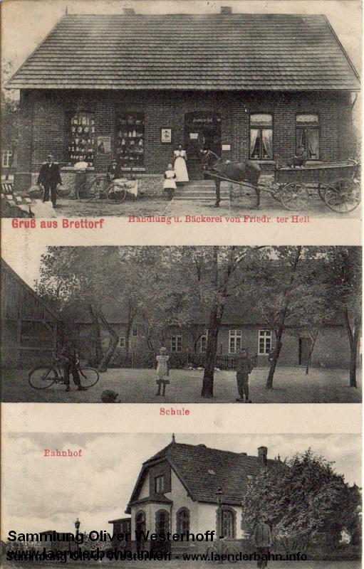 Der kleine Bahnhof Brettorf um die Jahrhundertwende.