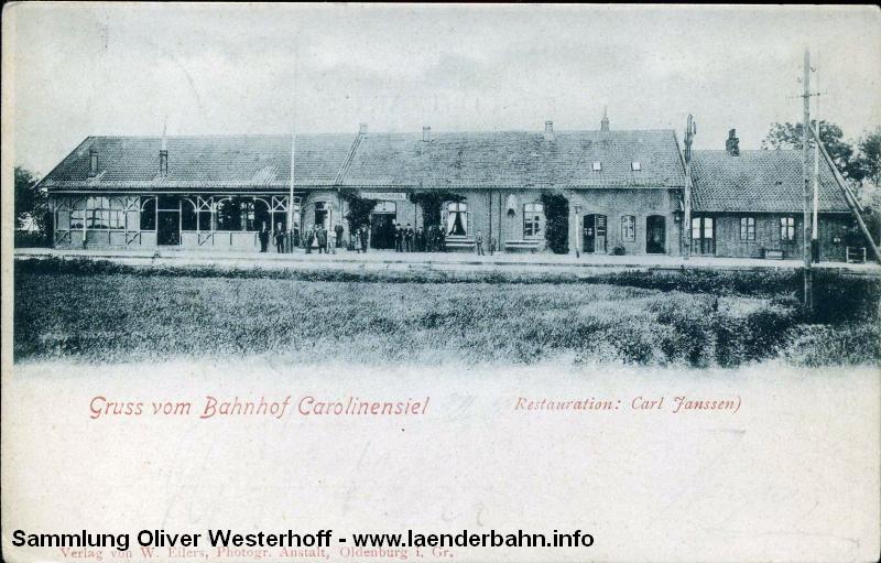Der alte Bahnhof von Carolinensiel.