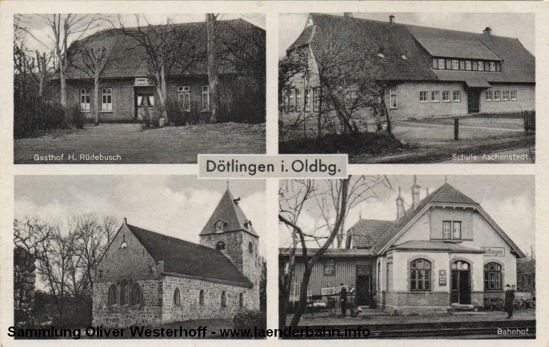 Auch in Dötlingen gab es einen der für die Schusterbahn so typischen Bahnhöfe.