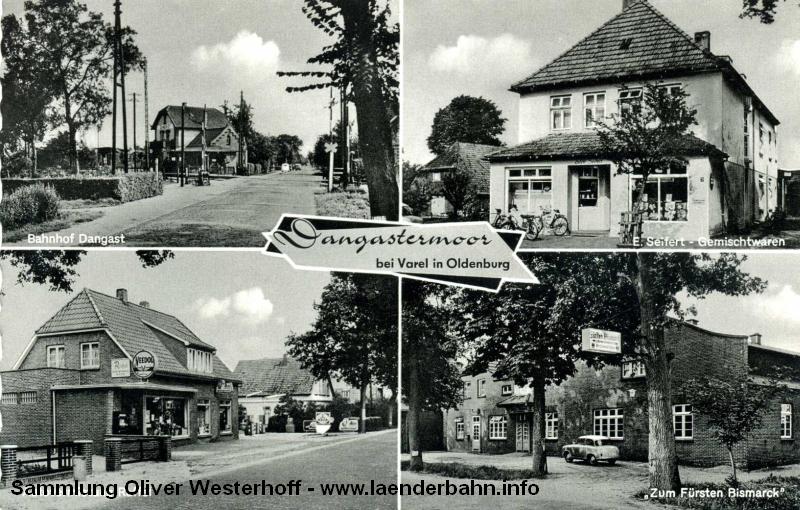 Ansicht auf den Haltepunkt Dangastermoor in den 1960er Jahren