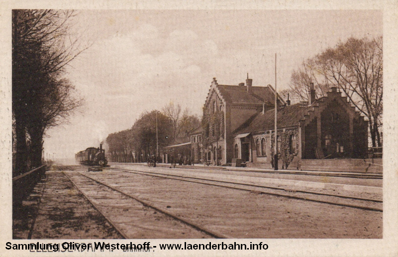 Ansicht auf den Bahnhof Dangastermoor in den 1960er Jahren