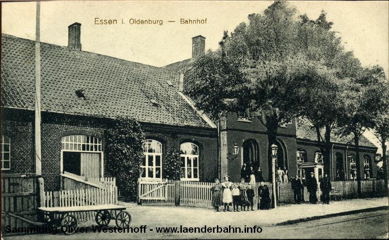 In Essen zweigte die Strecke nach Lewinghausen mit dortigem Anschluß nach Haselünne ab.