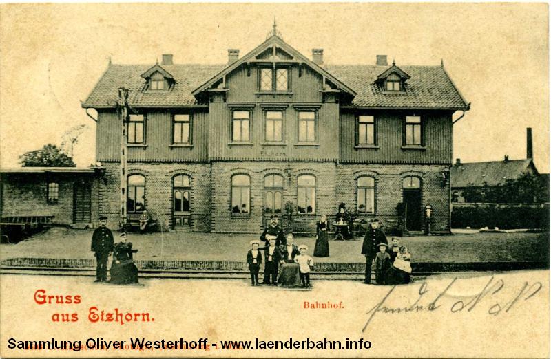 Der Bahnhof Etzhorn vor den Toren der Stadt um 1900