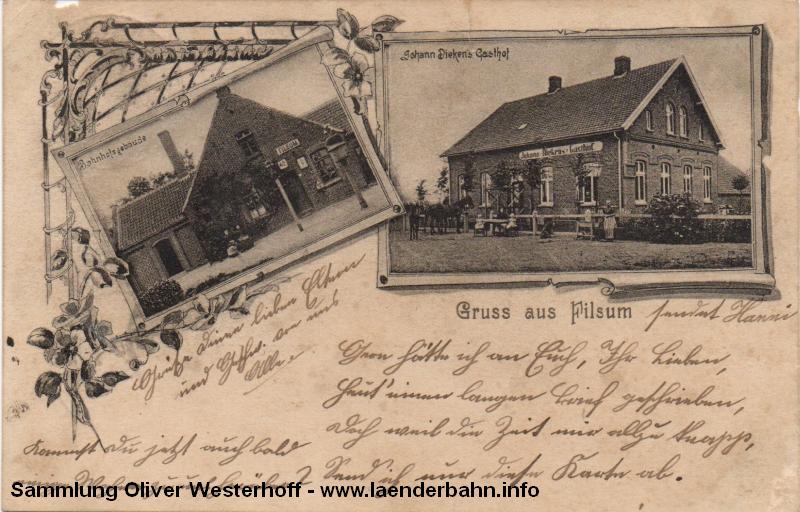 Der Bahnhof Filsum kurz nach der Jahrhundertwende
