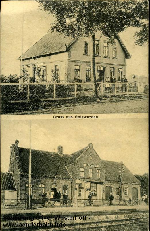 Der Bahnhof Golzwarden um 1910.