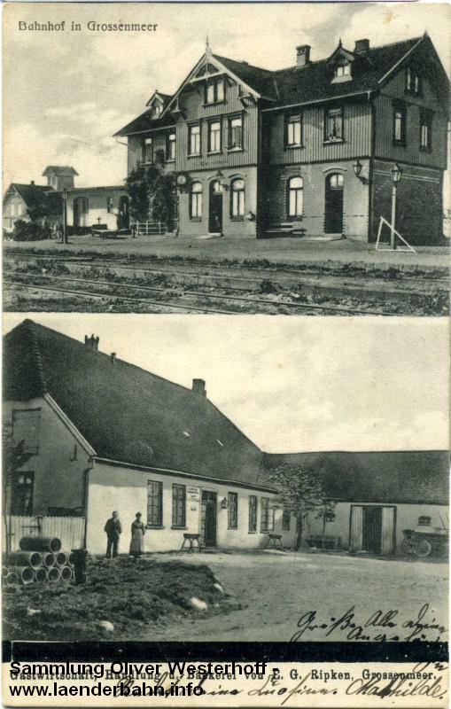 Ansicht vom Bahnhof Grossenmeer um 1910