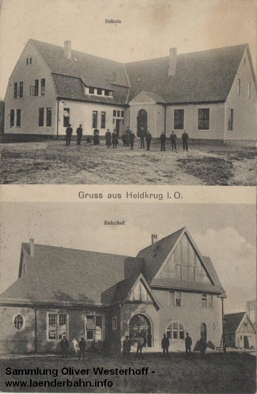 Bahnhof Heidkrug um 1910