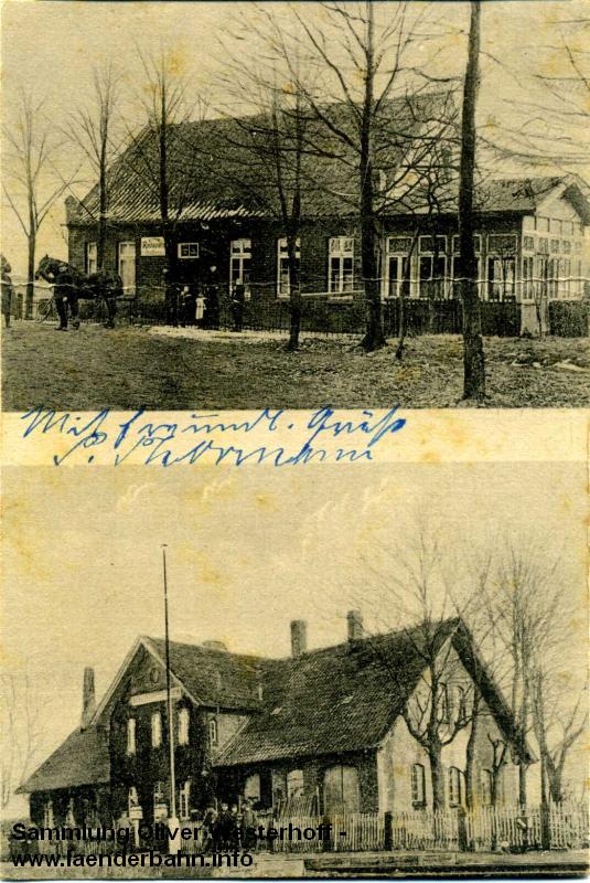 Höltinghausen hatte wie viele Bahnhöfe der Strecke ein verhältnismäßig großes Bahnhofsgebäude.