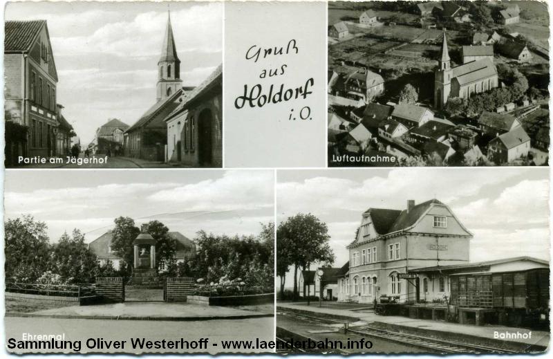 In Holdorf zweigte die Bahnstrecke nach Damme ab.