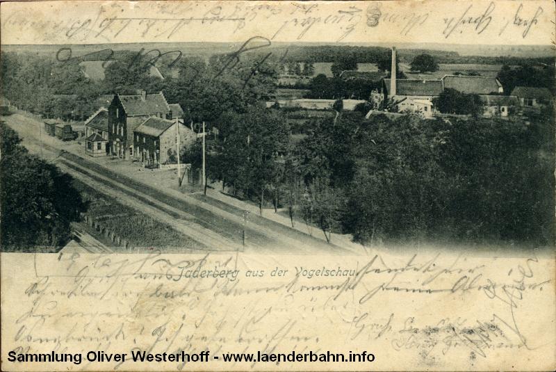 Blick auf den Bahnhof Jaderberg ca. 1900