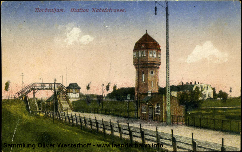 Der Haltepunkt Kabelstraße lag nur einen knappen Kilometer hinter dem Bahnhof Nordenham.