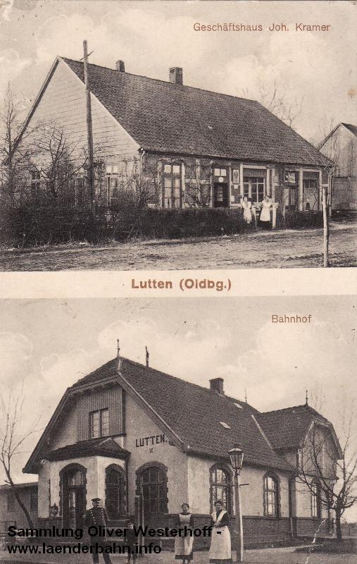 Der Bahnhof Neuenkirchen in einem für Oldenburg eher untypischem Baustil.