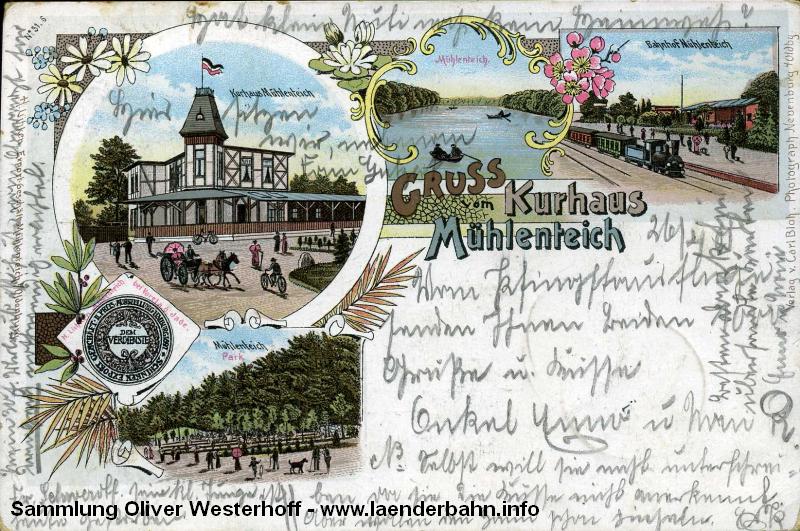 Am Mühlenteich wurde ein eigener Haltepunkt für den Ausflugsverkehr eingerichtet.